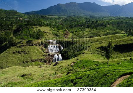 Waterfalls of Sri Lanka ,St.Clair's Falls ,Talawakele
