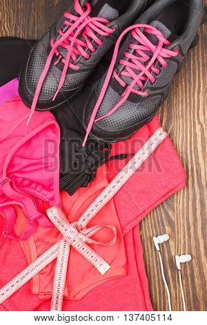 Sports Sneakers And Sports Bra