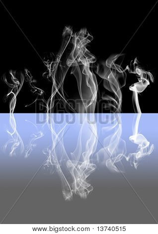 abstract smoke reflection I