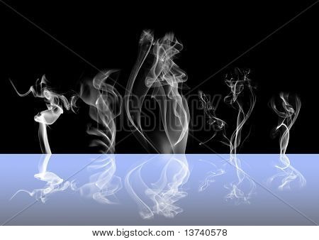 abstract smoke reflection II