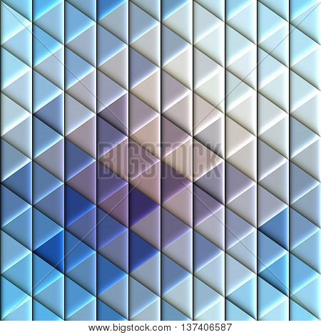 Abstract seamless rhombus and triagles blue pattern with a relief effect.