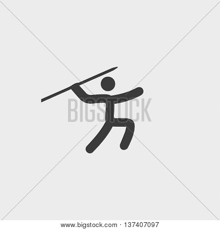 Throwing spears icon in a flat design in black color. Vector illustration eps10
