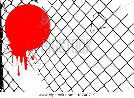 grunge wire fence vector