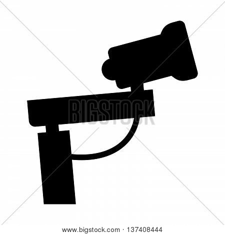 Snow cannon ( shade picture ) on white