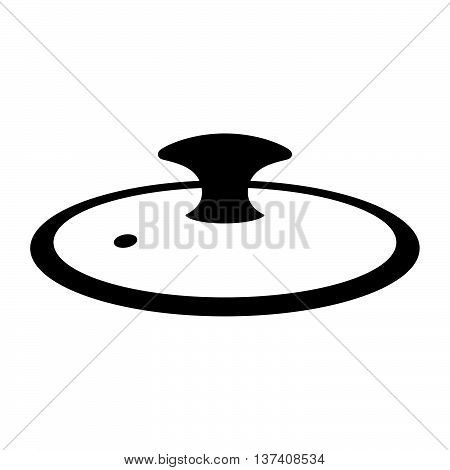 Cover for a cooking pot on white