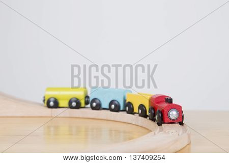 Toy Train Set On Table Top - Journey Concept