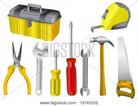 Sammlung von Arbeit Tool Vektor