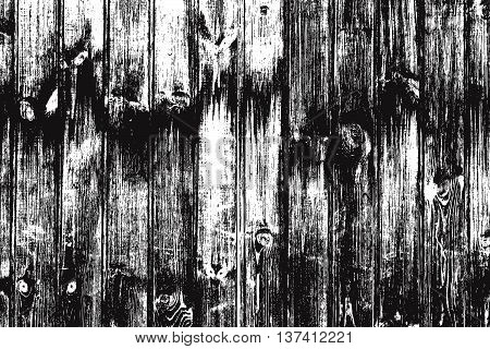Wooden Planks Overlay Distressed Texture For Your Design. Empty Template. EPS10 vector.