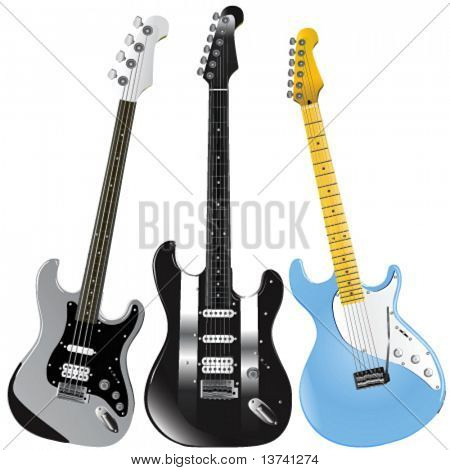 guitars vector 1