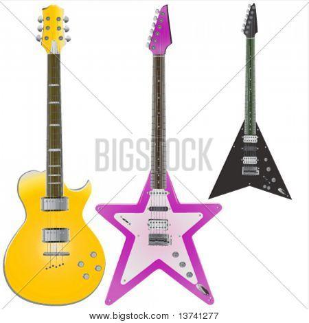 guitars vector 2