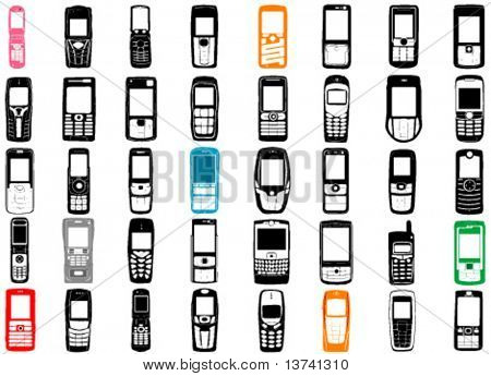 collection of mobile phone vector