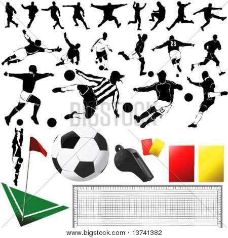 Fußball-Vektor und Ausrüstungen (Kleidung Detail)
