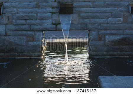 Nice Water supply for a garden pond.