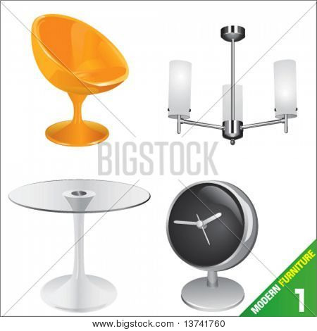 modern furniture 1 vector