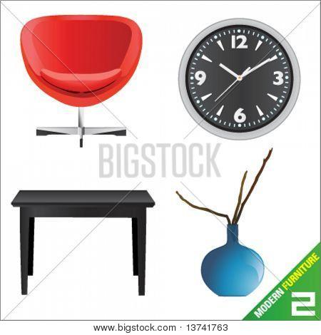 modern furniture 2 vector