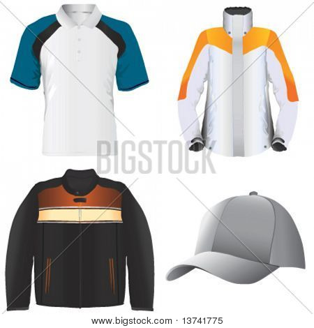 clothes and hat vector