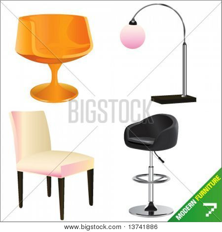 modern furniture 7 vector