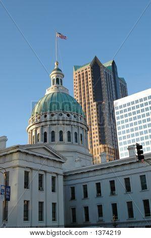 Palácio da Justiça, no centro da cidade de Saint Louis