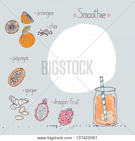 orange smoothie recipe template
