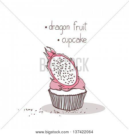 dragon fruit cupcake