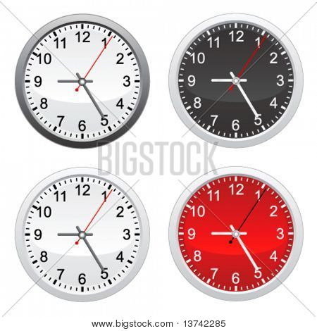 vector de reloj de pared