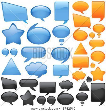 vetor de bolhas de diálogo