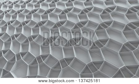 abstract 3d rendering background with repeating pattern