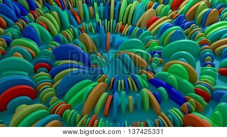 cloned geometry in spiral shape abstract 3d rendering background