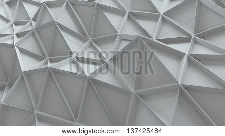 abstract 3d renderingbackground with repeating triangle pattern