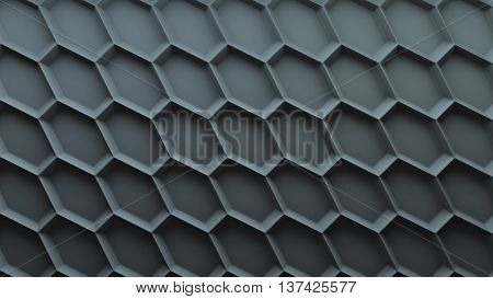 abstract 3d rendering background with repeating hexigon pattern