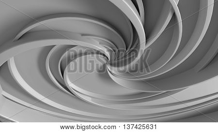 3d rendering abstract background with twirl elements
