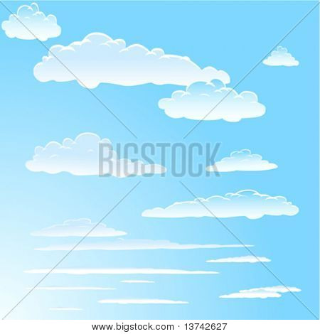 sky and clouds vector 2