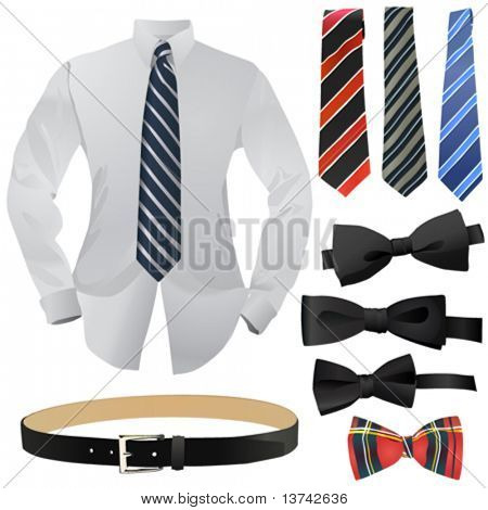 set of business fashion vector