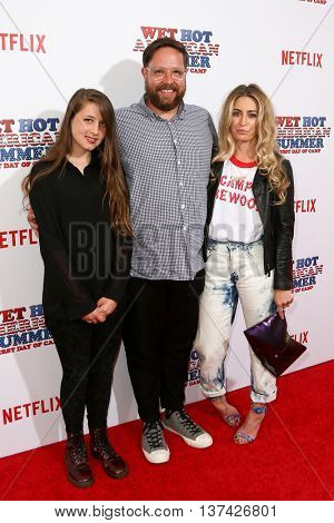 NEW YORK-JUL 22: (L-R) Arde Orth, Zak Orth and wife Kat Schaufelberger attend the 'Wet Hot American Summer: First Day of Camp' Series Premiere at SVA Theater on July 22, 2015 in New York City.