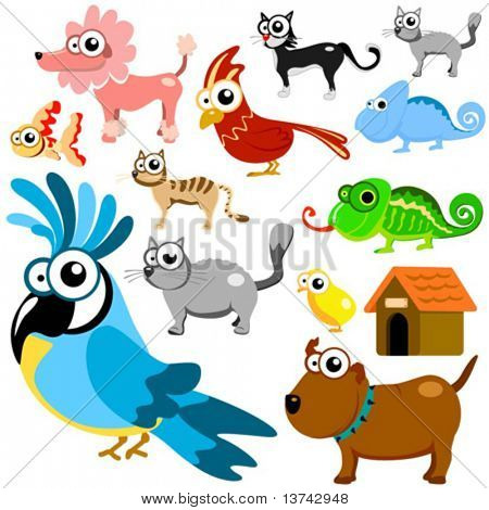 cartoon animals vector 3 (pet animals)