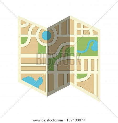 Orienteering theme design, isolated flat icon vector illustration graphic.