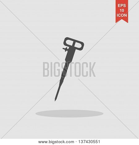 Pneumatic Hammer Drill Line Icon For Web, Mobile And Infographics
