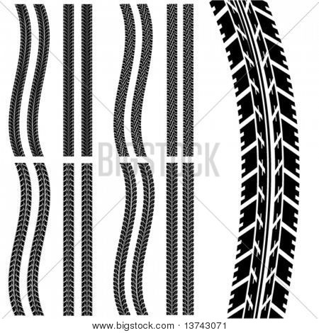set of car tyre