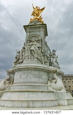 Queen Victoria Memorial in front of Buckingham Palace, London, England, United Kingdom