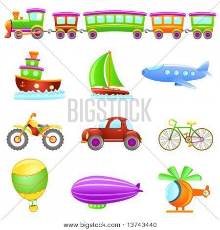 cartoon transportation vector