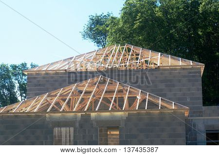 construction of a detached house in countryside
