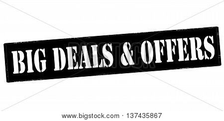 Rubber stamp with text big deals and offers inside vector illustration