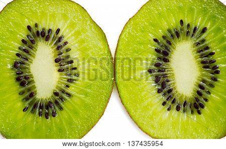 Slices Of Kiwi Fruit