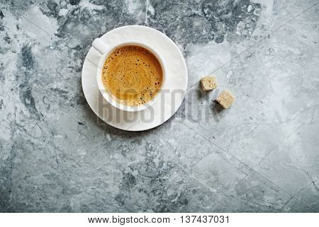 Cup of Cafe Crema with Brown Sugar
