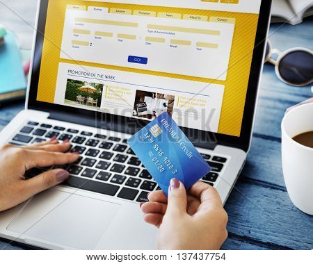 Hotel Booking Reservation Holiday Vacation Trip Concept