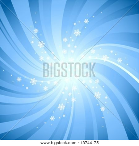 lighting background with snowflakes vector