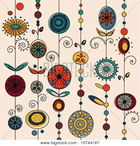 authentic ornament design vector