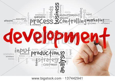 Hand Writing Development Word Cloud