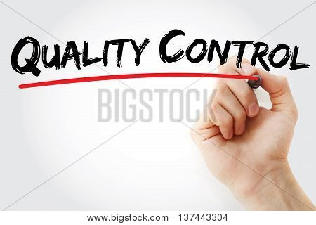 Hand Writing Quality Control With Marker