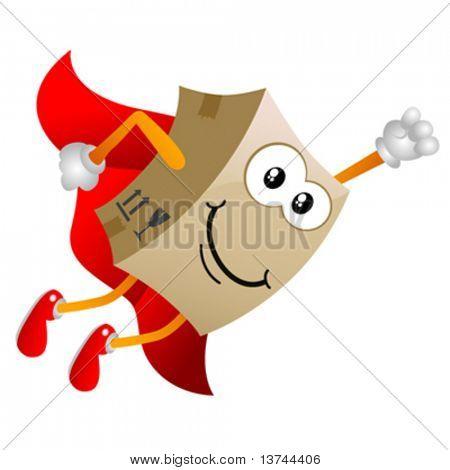 cardboard cartoon character vector 4
